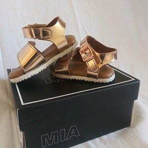 MIA rose gold girls sandals